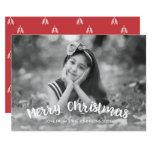 Modern Christmas Holiday Photo Card