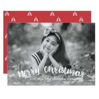 Modern Christmas Holiday Photo Card