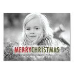MODERN CHRISTMAS   HOLIDAY PHOTO CARD PERSONALIZED INVITATION