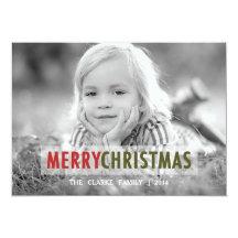 MODERN CHRISTMAS | HOLIDAY PHOTO CARD PERSONALIZED INVITATION