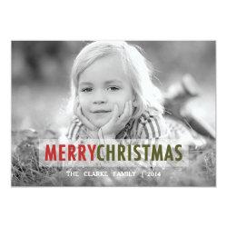 "MODERN CHRISTMAS | HOLIDAY PHOTO CARD 5"" X 7"" INVITATION CARD"