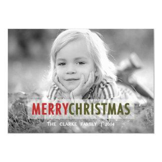 "MODERN CHRISTMAS   HOLIDAY PHOTO CARD 5"" X 7"" INVITATION CARD"