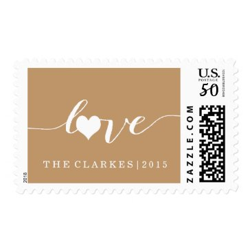 Valentines Themed MODERN CHRISTMAS LOVE POSTAGE- BROWN POSTAGE