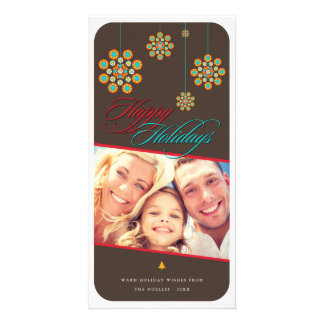 Modern Christmas Ornament Chic Holiday Photo Card