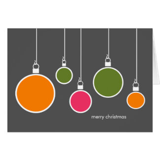 Modern Christmas Ornaments Card - Dark Gray