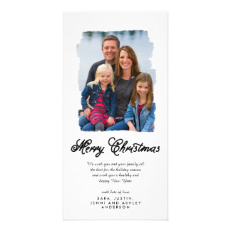 Modern Christmas Painted | Holiday Photo Card