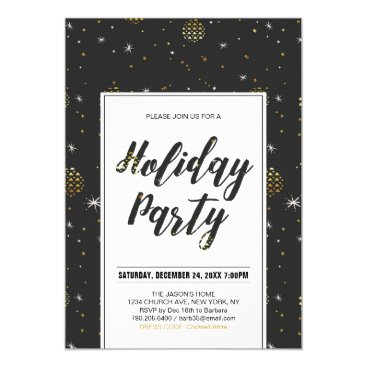 Professional Business Modern Christmas Party, Holiday Party Invitations