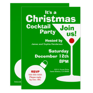 Modern Christmas Party Invitation