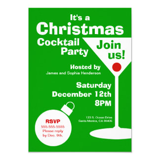 Modern Christmas Party Invitation