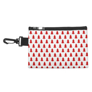 Modern Christmas Pattern Red Trees Gifts Accessory Bag