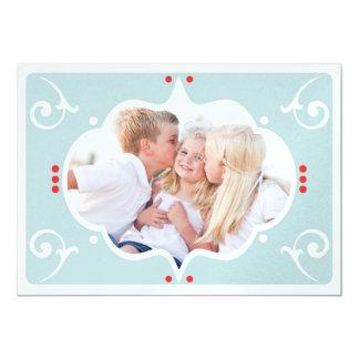 MODERN CHRISTMAS PHOTO CARD CUSTOM ANNOUNCEMENT