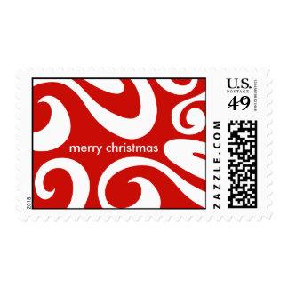 Modern Christmas Postage Stamp