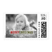 MODERN CHRISTMAS | RED HOLIDAY PHOTO STAMP
