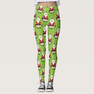Modern Christmas Santa Pattern Leggings