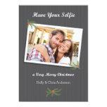 Modern Christmas Selfie Photo Card Announcement