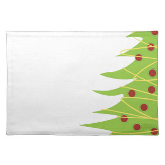 Modern Christmas Tree and Lights Cloth Placemat