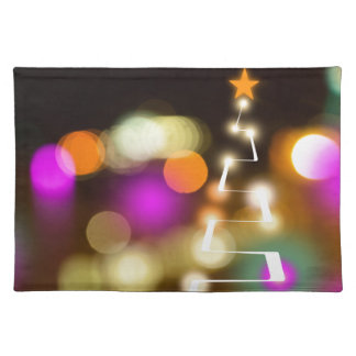 Modern Christmas Tree and Lights Placemat