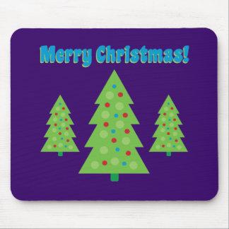 Modern Christmas Tree Art Mouse Pad