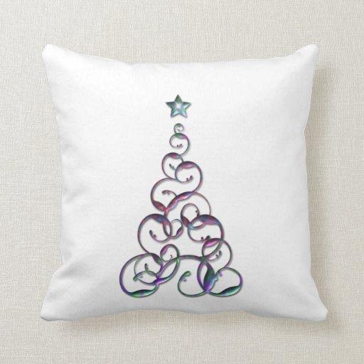 Modern Christmas Pillow : Modern Christmas Tree Art Pillows Zazzle