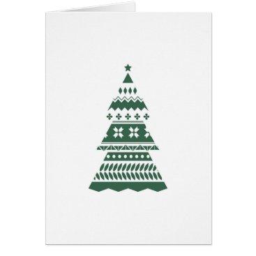 Professional Business Modern Christmas Tree Card - Green
