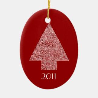 Modern Christmas Tree Ceramic Ornament