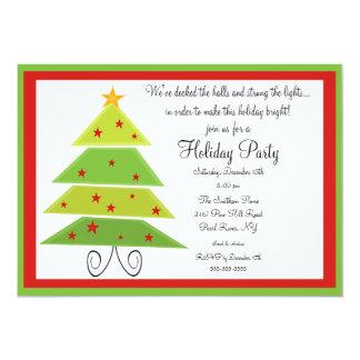 Modern Christmas Tree Christmas Party Invitation