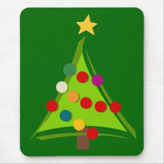 Modern Christmas Tree Design Mouse Pad