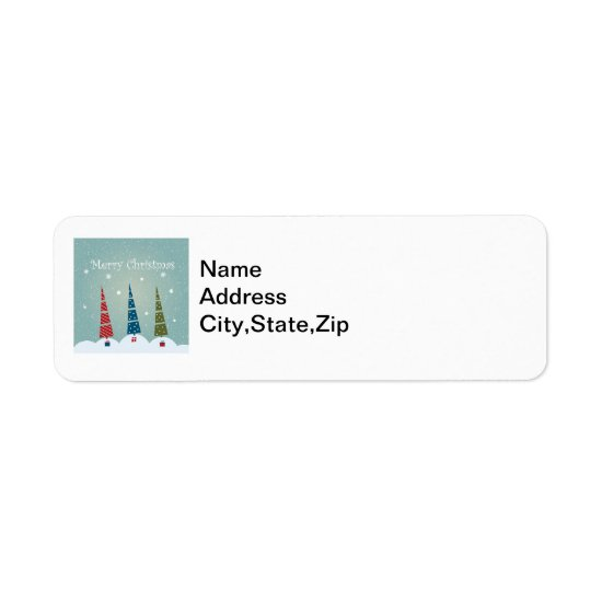 Modern Christmas Tree Design, Return Address Label