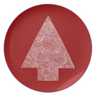 Modern Christmas Tree Dinner Plate