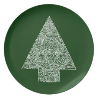 Modern Christmas Tree Dinner Plates