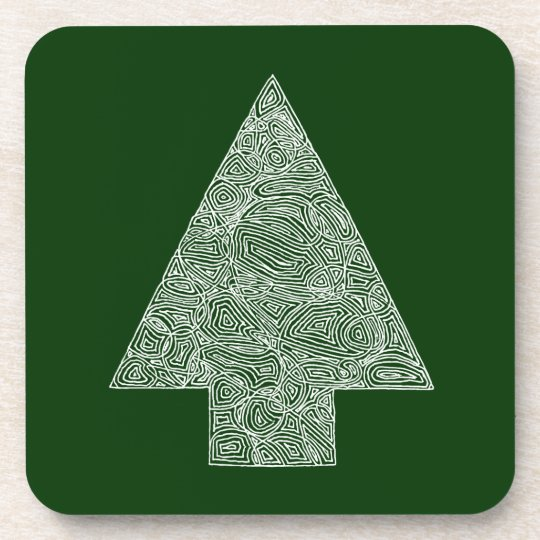 Modern Christmas Tree Drink Coaster