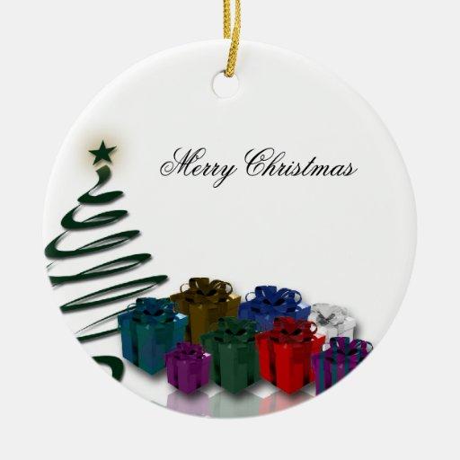 Modern Christmas Tree Graphics W Bright Presents