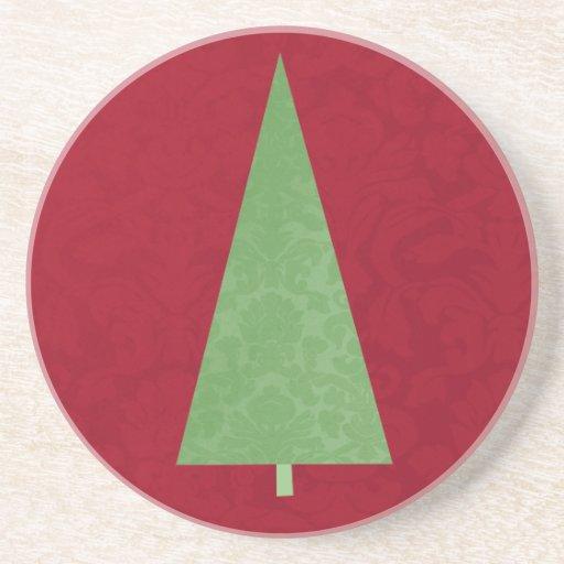 Modern Christmas Tree Holiday Coaster