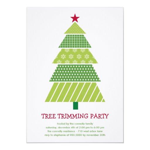 Modern Christmas Tree Holiday Party Invitation | Zazzle