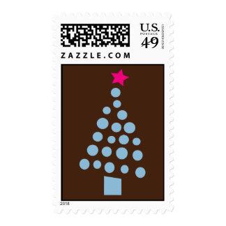 Modern Christmas Tree - Holiday postage