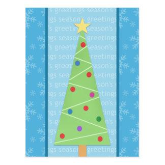Modern Christmas Tree Holiday Postcards