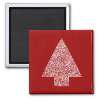 Modern Christmas Tree Magnet