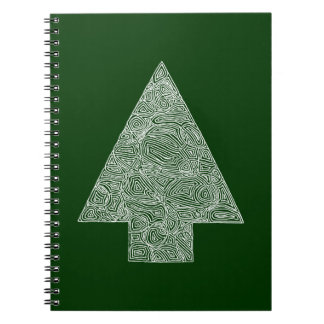 Modern Christmas Tree Note Books