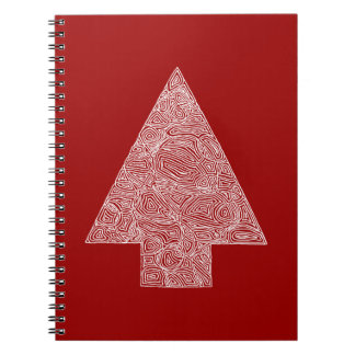 Modern Christmas Tree Notebook