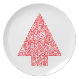 Modern Christmas Tree Party Plates