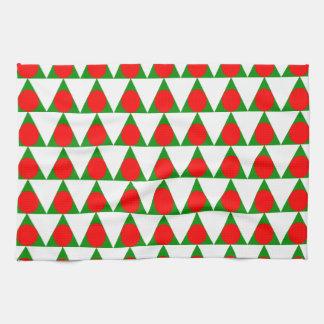 Modern Christmas Tree Pattern Kitchen Towel