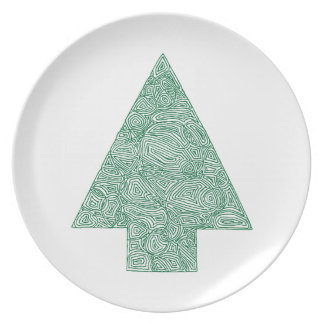 Modern Christmas Tree Plate