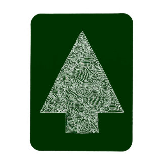 Modern Christmas Tree Rectangular Photo Magnet