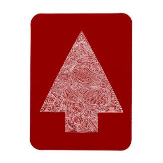Modern Christmas Tree - Red Rectangular Photo Magnet