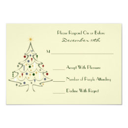 Modern Christmas Tree RSVP Card