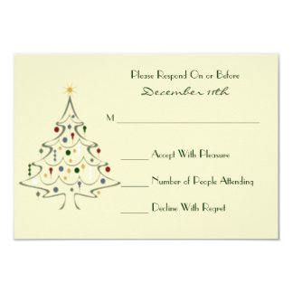 Modern Christmas Tree RSVP Card
