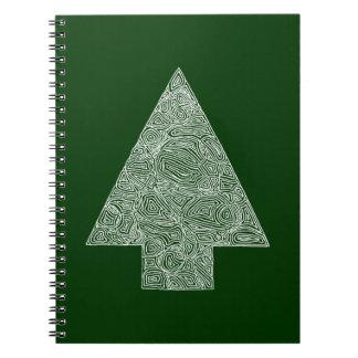 Modern Christmas Tree Spiral Notebook