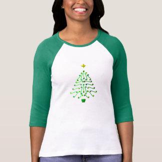 Modern Christmas tree, unusual pixel art design T-Shirt