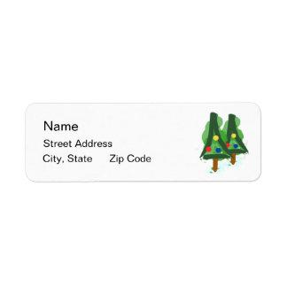 Modern Christmas Trees Return Address Label