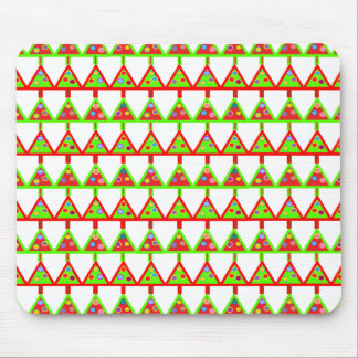 Modern Christmas Trees Pattern Mouse Pad